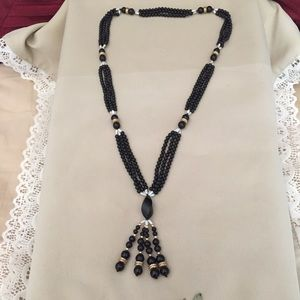 VINTAGE NECKLACE WITH REAL STONES/PEARLS/GOLD